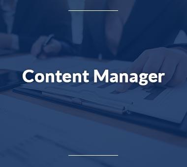 Assistenz der Geschäftsführung Content Manager