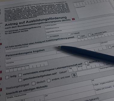BAföG Formblätter Formulare