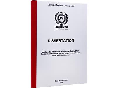 Dissertation binden Klebebindung rot