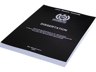 Dissertation binden Magazinbindung schwarz