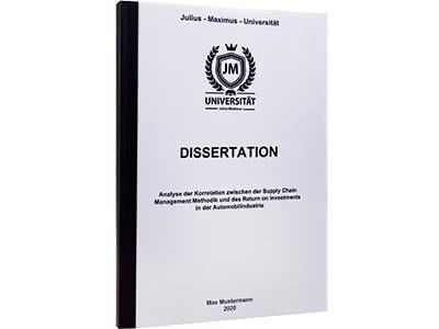 Dissertation drucken Klebebindung schwarz