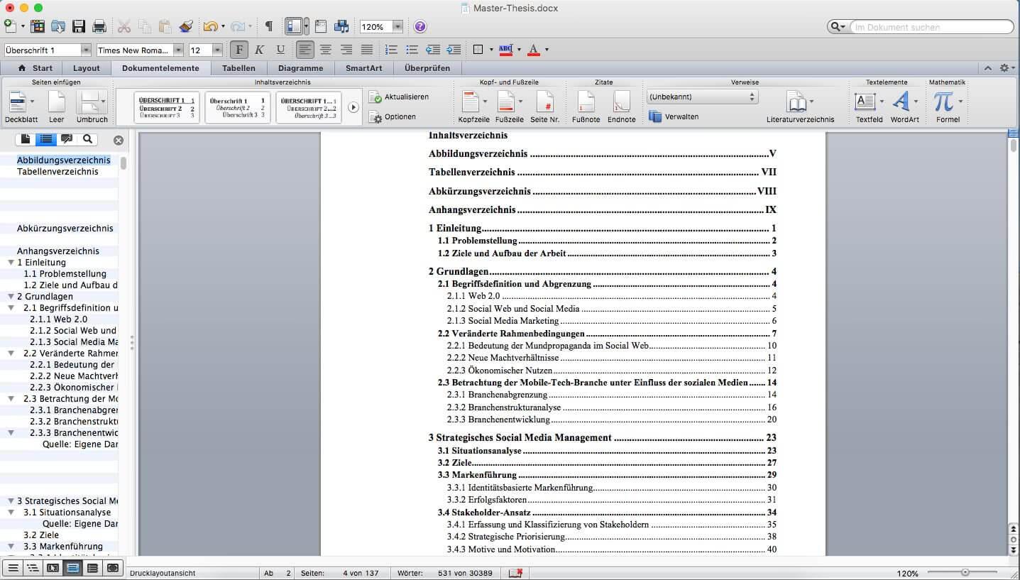 Inhaltsverzeichnis In Word Erstellen Nur 60 Sekunden