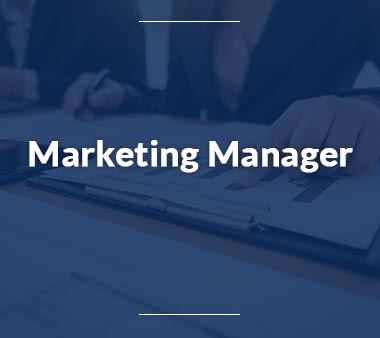 Personalreferent Marketing Manager