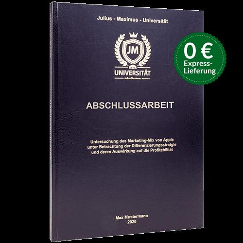 Abschlussarbeit binden Standard Hardcover