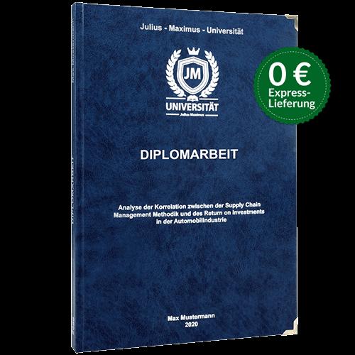 Diplomarbeit binden Hardcover