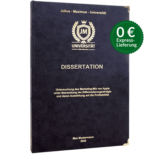 Dissertation drucken premium Hardcover