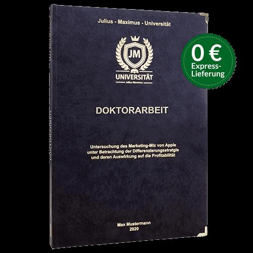 Doktorarbeit binden Hardcover