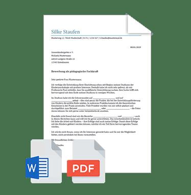 Bewerbungsschreiben Muster Vorlage Festanstellung