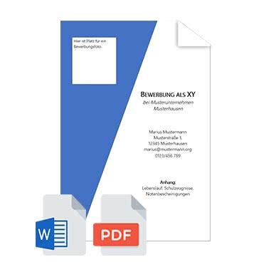 Deckblatt Bewerbung Vorlage Praktikum