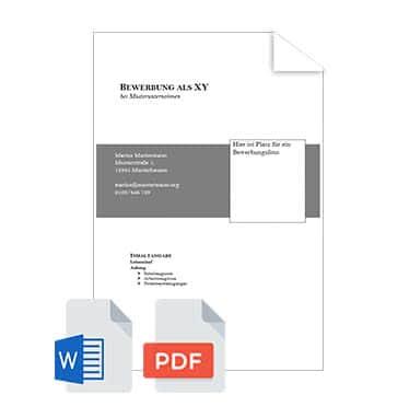 Deckblatt Bewerbung Muster Vorlagen Tipps
