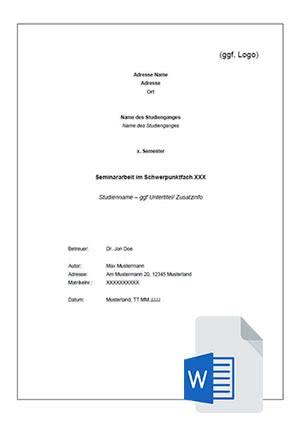 Formatierung Bachelorarbeit Formatvorlage Studienarbeit