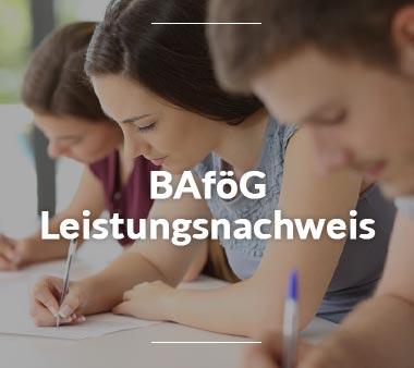 BAföG Folgeantrag BAföG Leistungsnachweis