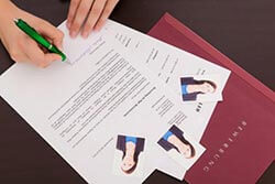 Deckblatt der Bewerbung Bewerbungsfoto