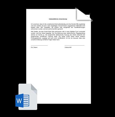 eidesstattliche versicherung dissertation lmu