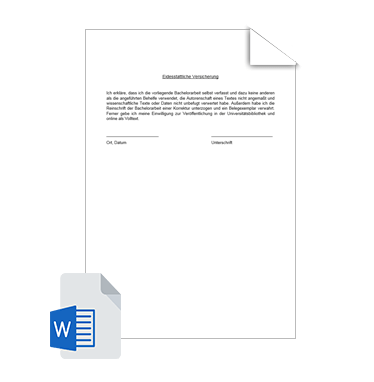Eidesstattliche Erklärung Vorlage 4