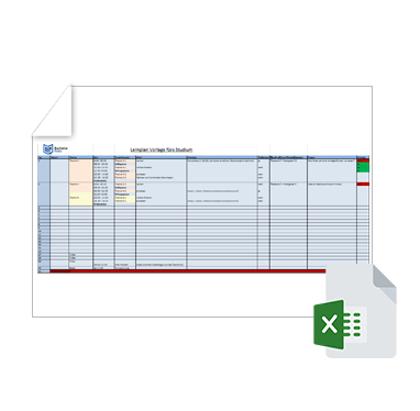 Wissenschaftliche Vorlage Lernplan Excel
