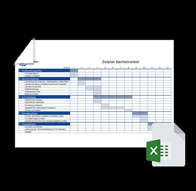 Zeitplan Fur Die Dissertation In 6 Phasen Excel Vorlage
