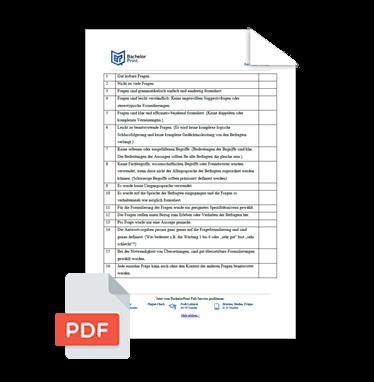 Wissenschaftliche Vorlagen Checkliste Umfrage erstellen