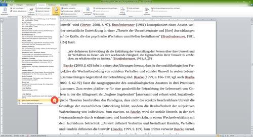Kurzverweis Quelle einzufügen ohne Masterliste Literaturverzeichnis