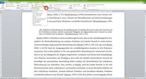 Literaturverzeichnis Word Formatvorlagen Zitierstile