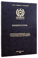 Dissertation binden im Premium Hardcover