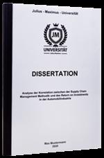 Dissertation binden in der Klebebindung