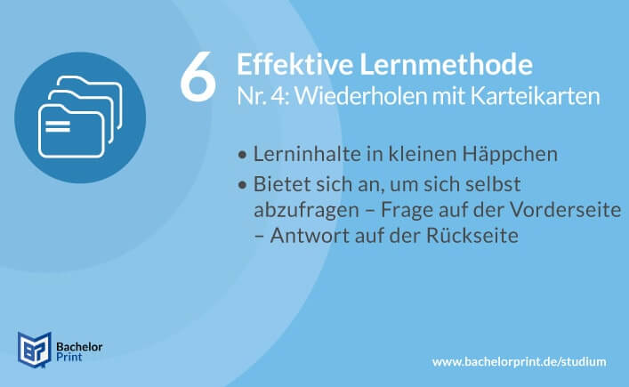 Effektive Lernmethode Karteikarten