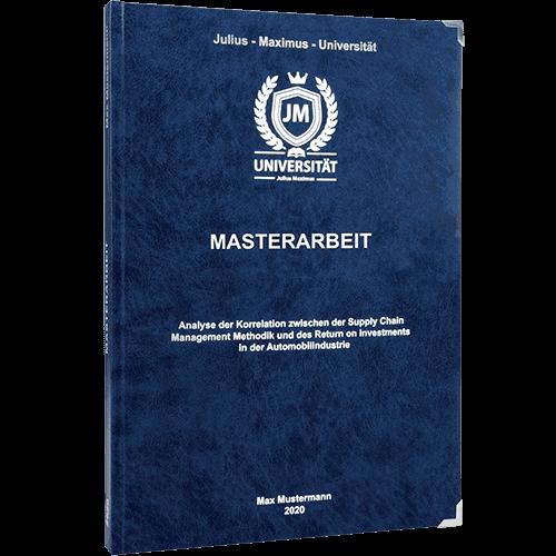 Masterarbeit binden im Premium Hardcover blau