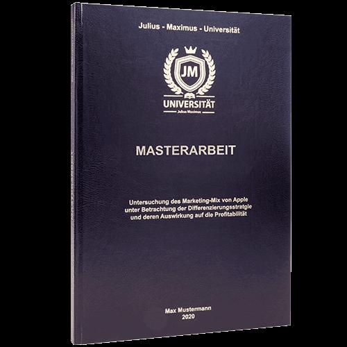 Masterarbeit binden lassen in Standard Hardcover