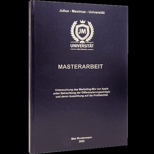 Masterarbeit drucken im Standard Hardcover schwarz