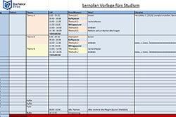 Prüfungsvorbereitung Lernplan erstellen