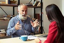 Sprache zu Text Transkription Interview