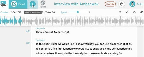 Transkriptionssoftware Transkript bearbeiten
