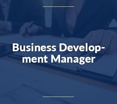 Business Development Manager Bürojobs