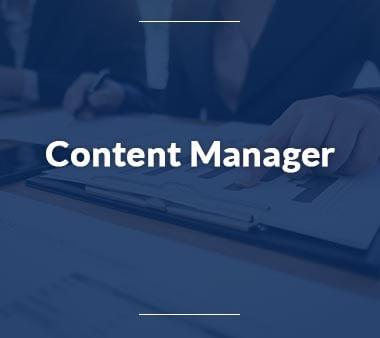 Content Manager Bürojobs