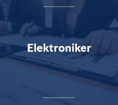 Elektroniker Ausbildungsberufe