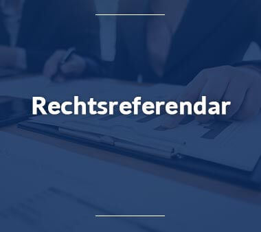 Rechtsreferendar Bürojobs