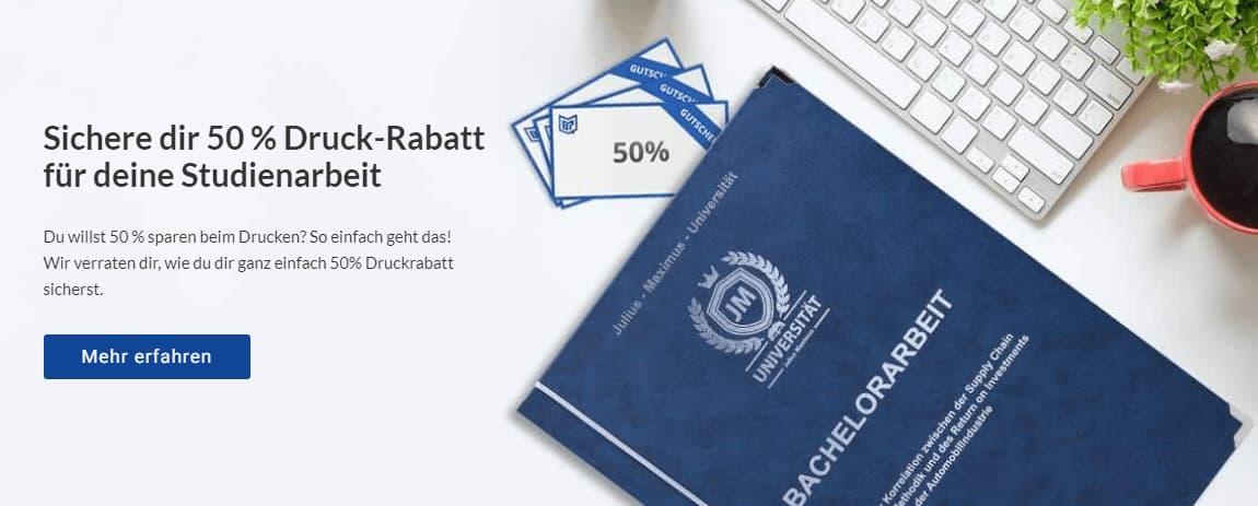 Abschlussarbeit drucken binden online Rabatt