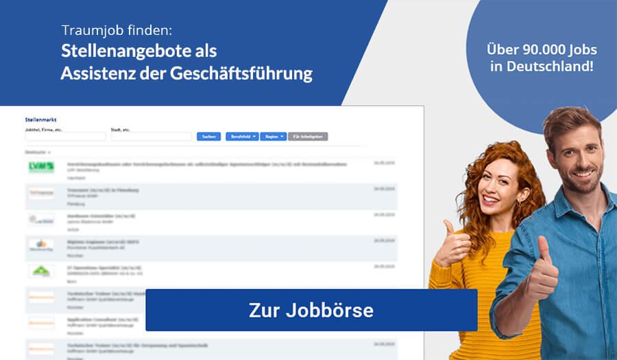 Assistenz der Geschäftsführung Jobbörse