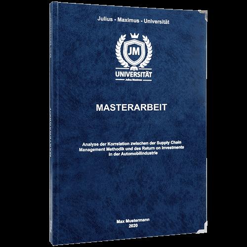 Masterarbeit drucken Premium Hardcover dunkelblau