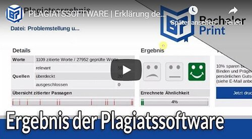 Plagiatssoftware Erklärung Plagiatsreport