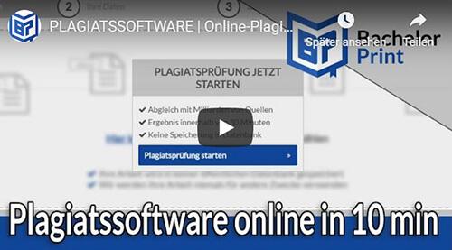 Plagiatssoftware Erklärung