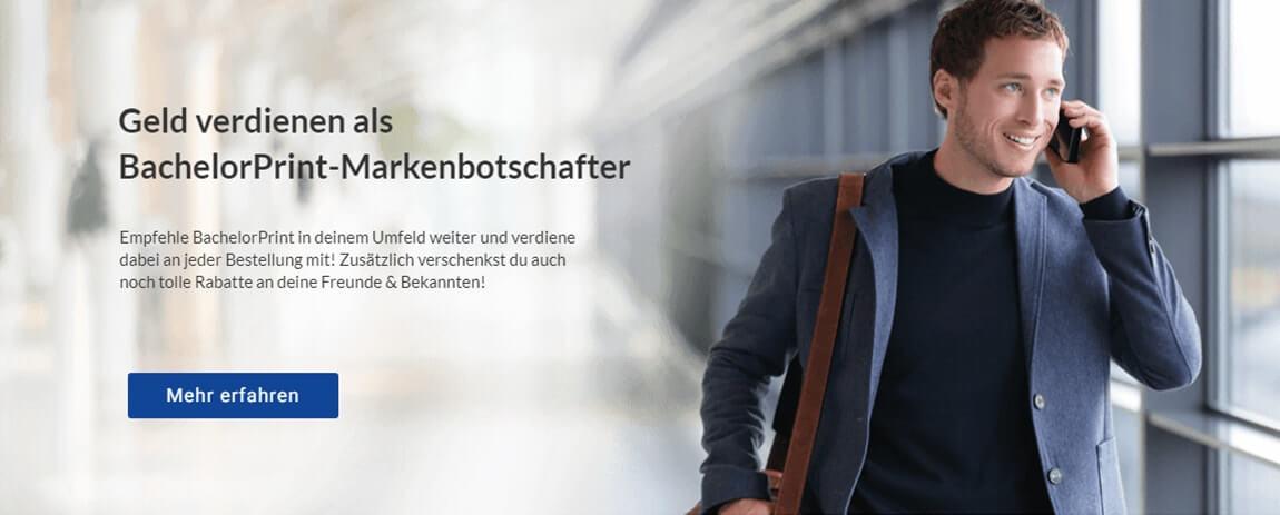 Projektarbeit drucken binden BachelorPrint Markenbotschafter