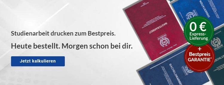 Deutsche Zitierweise Bachelorarbeit drucken binden