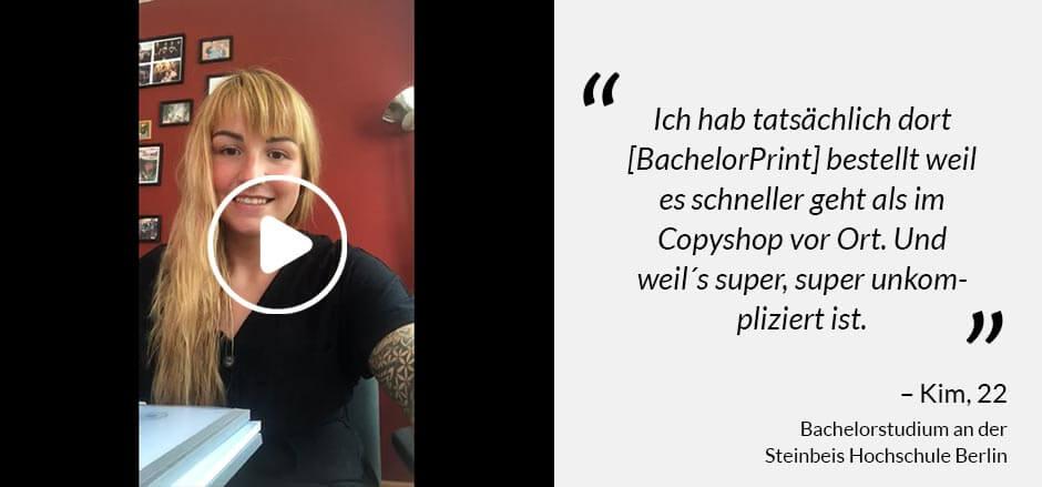Erfahrungen BachelorPrint - Kim