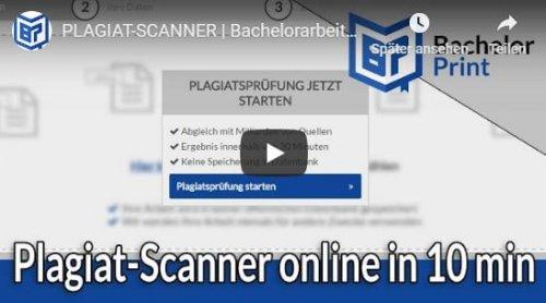 Plagiat-Scanner online Tutorial