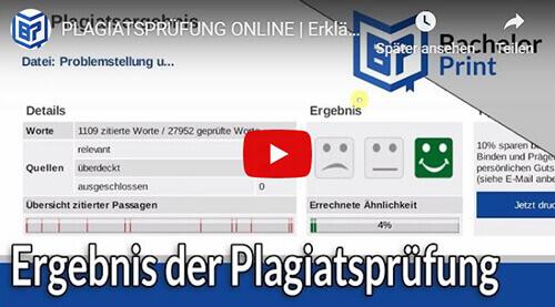 Plagiatsprüfung Erklärung Plagiatsreport Überblick