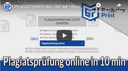 Plagiatsprüfung Erklärung Video Überblick