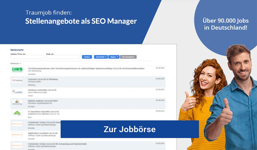 SEO Manager Jobbörse