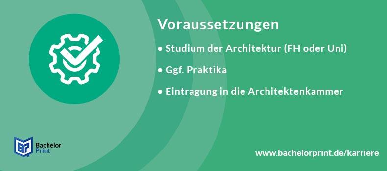 Voraussetzung Architekt